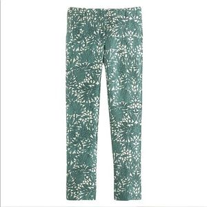 J. Crew Collection Silk Cropped Pant In Photo Lace